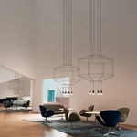 Wireflow Octagonal Pendant by Vibia