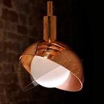 Calimero Pendant - Black / Copper / Smoke Grey