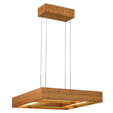 Bamboo Zen Square Suspension