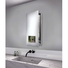Seamless Left Recessed Medicine Cabinet with TV