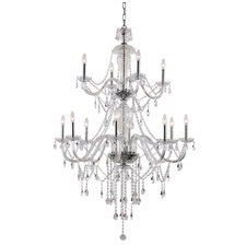 Crystal Fountain 2-Tier Chandelier