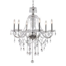 Crystal Fountain 1-Tier Chandelier