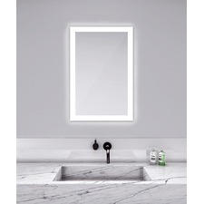 Silhouette Rectangular Lighted Mirror