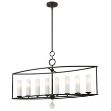 Cameron Glass Shade Linear Chandelier