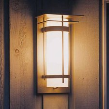 Banded 16 Outdoor Wall Sconce With Top Plate Black Finish