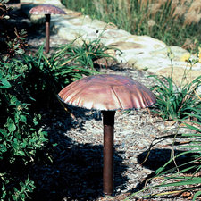 GAML1 Copper Mushroom Pathlyte with Mounting Stake