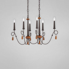 Corso 6 Oval Chandelier