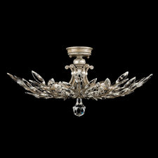 Crystal Laurel Semi Flush Ceiling Light
