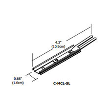 Cirrus Channel Mounting Locking Slide Clip