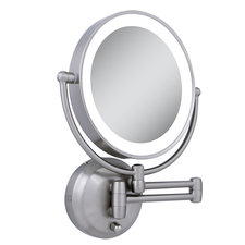 10x/1x Round Battery Operated LED Wall Mirror