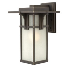 Manhattan Etched Glass Outdoor Wall Light