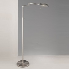 Two Tone LED Swing Arm Floor Lamp