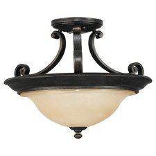 Cervantes 15 inch Semi Flush Ceiling Light