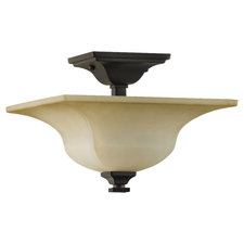 American Foursquare Semi Flush Ceiling Light