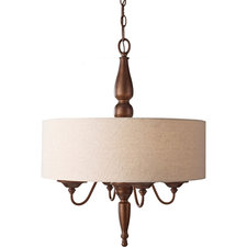 Yorktown Heights Drum Shade Chandelier