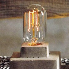 Filament Edison LB3 Tube 60W Medium Base 120V Bulb