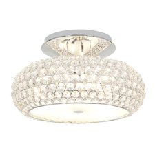 Kristal Crystal Semi Flush Mount