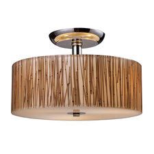 Modern Organics Semi Flush Ceiling Light Bamboo