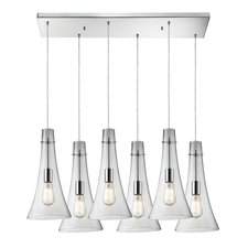 Menlow Park 60055-6RC Linear 6-Light Pendant