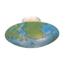 Kidshine World Map Semi Flush Ceiling