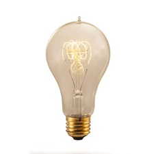 Nostalgic A21 E26 Antique Loop Bulb 25W 120V