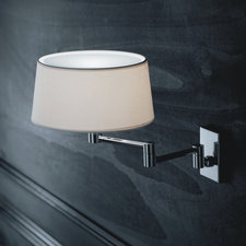Classic Swing Arm Wall Sconce with Top Diffuser