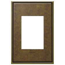 Aged Brass 1-Gang 3-Module Wall Plate