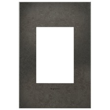 Dark Burnished Pewter 1-Gang 3-Module Wall Plate