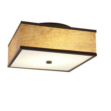 Square Bronze Ceiling Flush Mount