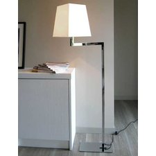 Quadra Liseuse Swing Arm Floor Lamp with Chrome