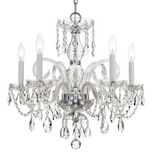 Traditional Crystal 1005 Polished Chrome Chandelier