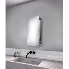 Simplicity Small Mirror Cabinet Recessed Left Hinge