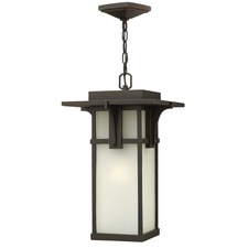 Manhattan Etched Glass Outdoor Pendant