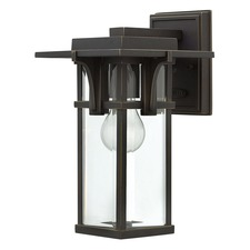 Manhattan Clear Glass Outdoor Wall Light