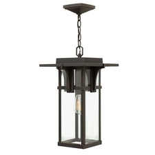 Manhattan Clear Glass Outdoor Pendant