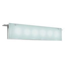 Suspended Glass 6 Light Bath Bar