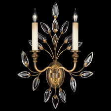 Crystal Laurel 2 Light Wall Sconce