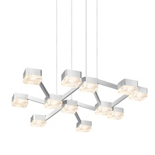 Lattice LED Square Pendant