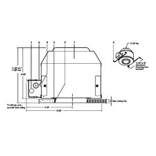 Calculite C6DA120 6 Inch Non-IC AirSeal Frame-In Kit