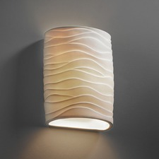 Porcelain Waves Wall Sconce