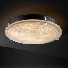 Porcelina Round Clips Flush Mount / Wall Sconce