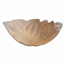 Limoges Leaves Porcelain Bisque Wall Sconce