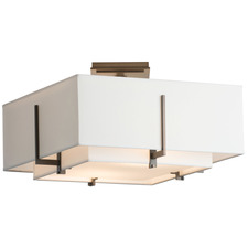 Exos Small Double Square Semi Flush Mount