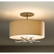 Brindille Small Vintage Platinum Semi Flush Mount