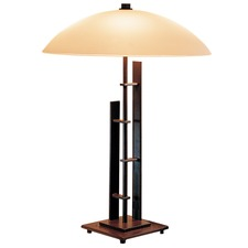 Metra Double Table Lamp Glass Shade