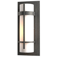 Banded Halogen Outdoor Wall Sconce