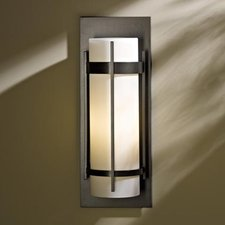 Banded Incandescent Outdoor Wall Sconce