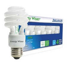 CF Med Base CFL 13W 120V 4100K 4-Pack