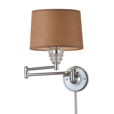 Insulator Shade Plug in Swing Arm Wall Sconce