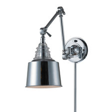 Insulator Plug-in Swing Arm Wall Sconce